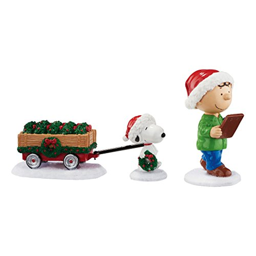 Peanuts from Department 56 Checking The List Set
