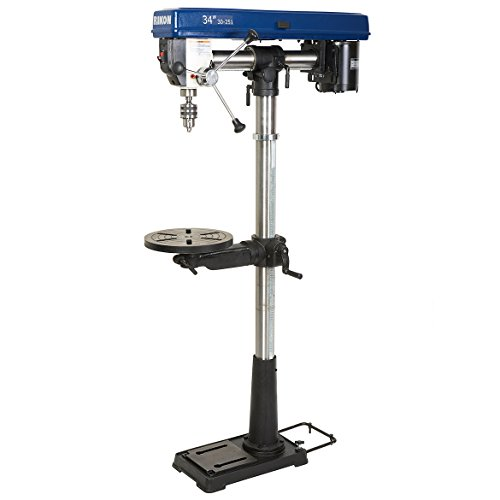 Rikon 30-251 3,100 RPM 34-Inch Radial Floor Drill Press with Chuck Key Holder