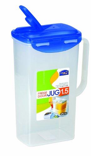 Lock&Lock 51-Fluid Ounce Water Jug with Flip Top Lid, Polypropylene, 6.2-Cup