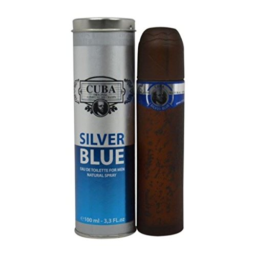Cuba Silver Blue for Men EDT Spray 3.3 oz/100ml Brand New