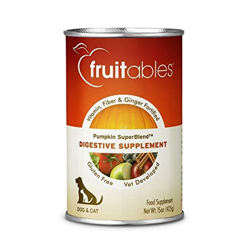 Fruitables Pumpkin Dog Digestive Supplement, with