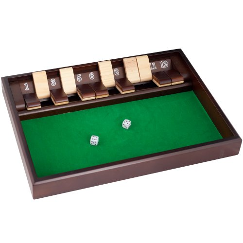 Hey! Play! Shut The Box Game – 12 Numbers (Includes Dice)
