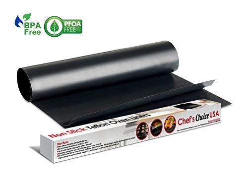 2 X Large Oven Liner - BPA & PFOA Free Teflon Non-Stick Oven Liners or Pan Liners-17x25 2 PCS + STOVE TOP LINER - Heavy Duty Use for Electric, Gas, Microwave, and Toaster Ovens (2, 17 x 25) ()