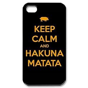 Custom Hakuna Matata Cover Case for iPhone 4 4s LS4-2052