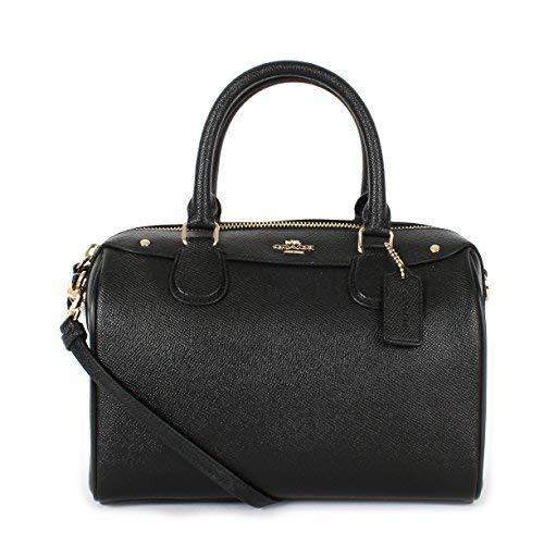 Coach Crossgrain Leather Mini Bennett Crossbody Satchel F57521 Black, Small