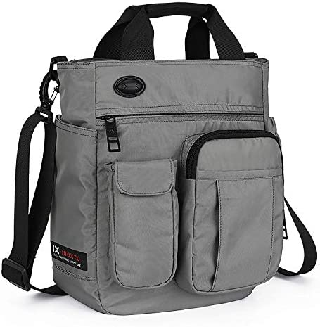 AMAZACER クロスボディメッセンジャーバッグ、多機能ショルダーバッグ、男性と女性の大学大学院ビジネススポーツ旅行用のためのラップトップバッグ (Color : Gray)