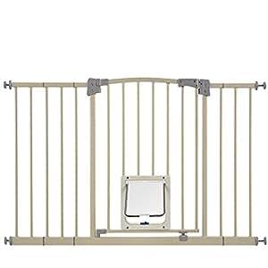 Amazon.com: Paws & Pals Dog Gate Multifunctional Indoor Metal Baby ...