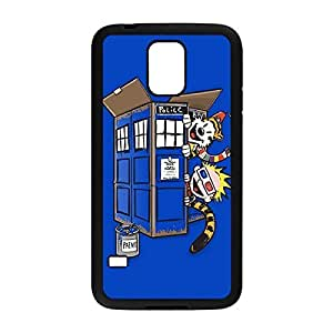 Laser Technology Calvin and Hobbes Custom Durable and Slim Plastic Case Cover for Samsung Galaxy S5 -Black031312