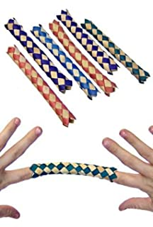 12 Chinesische Orientalisch Echt Bambus Finger Fallen