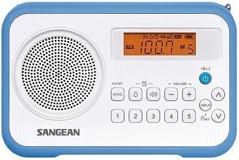 Sangean PR-D 18 - Radio Portátil, Blanco/Azul: SANGEAN: Amazon.es ...