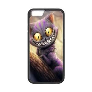 Alice In Wonderland funda iPhone 6 Plus 5.5 Inch caja funda del teléfono celular del teléfono celular negro cubierta de la caja funda EVAXLKNBC33852