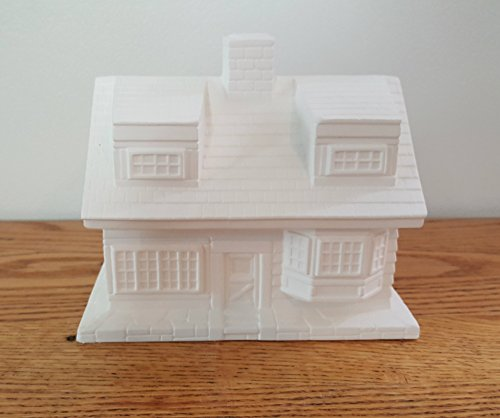 Single Story Clapboard House unpainted ceramic bisque ready to be painted Christmas Village (House Unpainted)