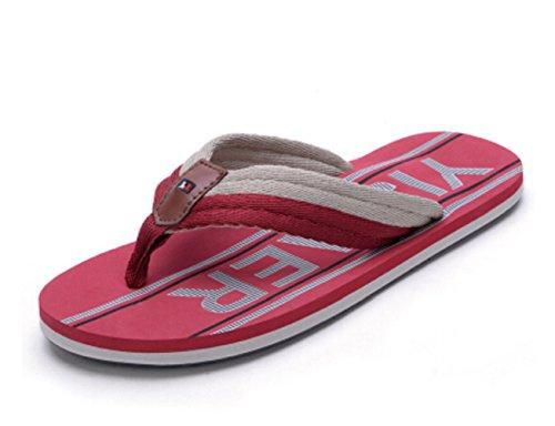 Happyshop(TM) Summer Lovers Couples Fashion Flip-flops Beach Sandal Anti-skidding Slipper Shoes Size 36-45 Red