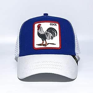 sdssup Gorra de Béisbol Bordada Fox Gorra de Béisbol Gallo Azul y ...