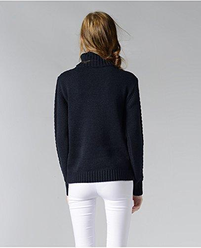 Top hiver Tricot Manche Pull Noir Acvip Chandail Longue Sweater Veste over Femme Automne 0nqgxFEwzS