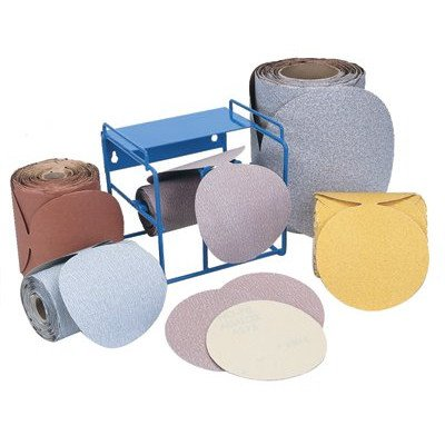 Stick & Sand Paper Discs - 5'' disc roll p120-b grita275 no-fil adalox psa [Set of 6] by Norton Abrasives - St. Gobain
