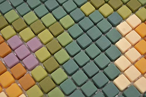 GLAS Mosaik Roma gr/ün matt Mosaikfliese Wand Fliesenspiegel K/üche Bad