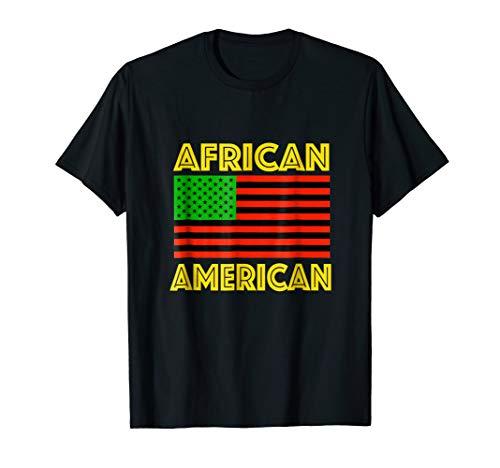 African American Pride USA Flag T Shirt Black Pride