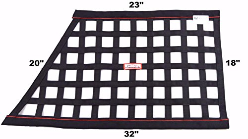 RACERDIRECT.NET SFI 27.1 Oblong Ribbon Safety Window NET Black & RED