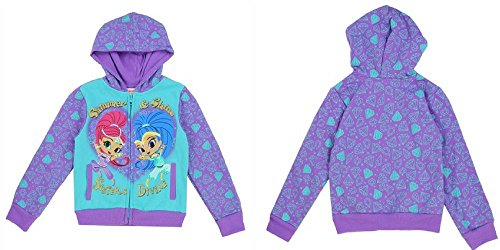 Shimmer and Shine Licensed Character Toddler Girls Sweatshirt Hoodie (3 Toddler)