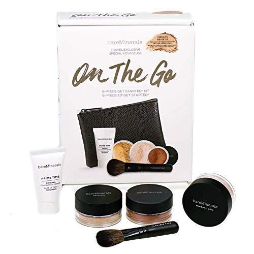 BareMinerals On The Go Makeup Starter Kit – Medium Beige Foundation 6 Piece Set