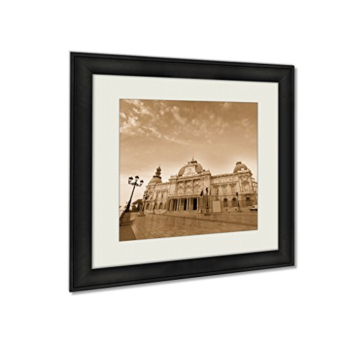 Ashley Framed Prints Ayuntamiento De Cartagena City Hall Murcia Spain, Wall Art Home Decor, Sepia, 26x26 (frame size), AG5528293 by Ashley Framed Prints