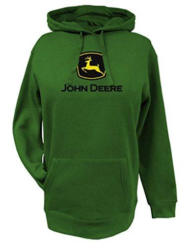 Top of the World Womens John Deere Logo Fleece Hooded Sweatshirt