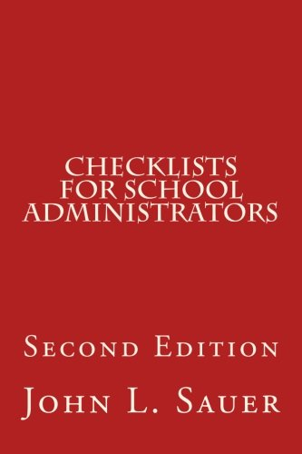 Checklists for School Administrators: Second Edition
