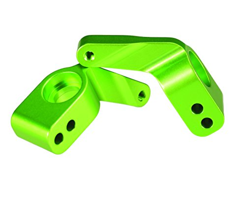 Traxxas 3652G Green-Anodized 6061-T6  Aluminum Rear Stub Axle Carriers (pair)