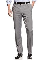 Calvin Klein CK Slim Fit Light Gray Plaid Dress Pants 36W x 34L Flat Front