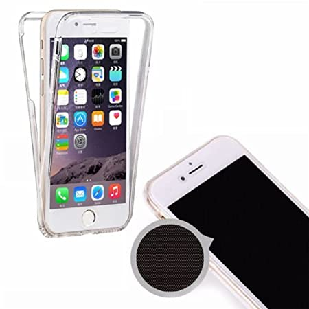The Transporter Slim 360 Degree Protective Shockproof Front And Back Full Body Tpu Silicone Gel Case Cover For Apple I Phone 6 6s Clear by Amazon