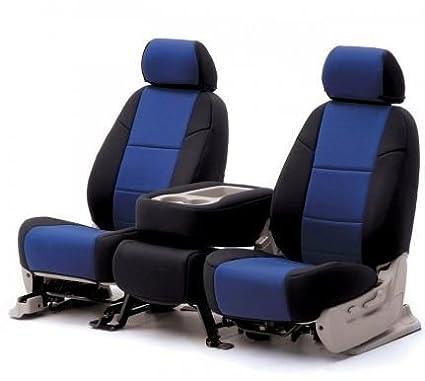 SPC386 Coverking Custom Fit Seat Cover for Jeep Wrangler JK 2-Door Neoprene, Black//Blue