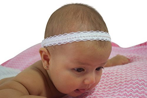 Amazon.com  Handmade White Baby Baptism Halo Headband by ALLBABYGIRLS  c59edb1c7e1