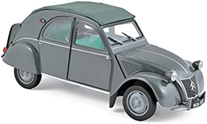 Citroen 2Cv Oxford Diecast Black Model Cars Grey
