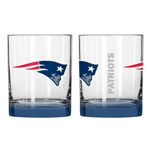 NFL New England Patriots Elite Rocks Glass, 14-ounce, - Glasses England