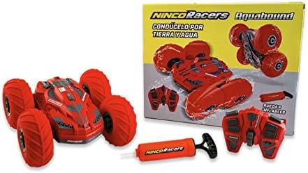 Ninco NH93 NincoRacers Aquabound. Coche teledirigido Reversible y Anfibio. Condúcelo por Tierra, Agua y Nieve. 2.4GHz (NH93118). Color: Rojo. Medidas: 24 cm x 24 cm x 12 cm
