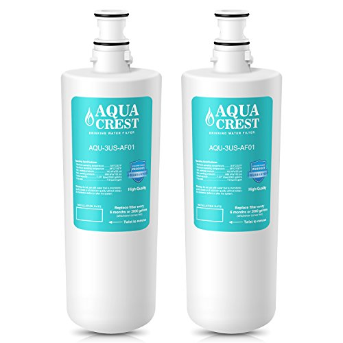 AQUACREST 3US-AF01 Replacement for Standard Filtrete 3US-AF01, 3US-AS01, Whirlpool WHCF-SRC, WHCF-SUFC, WHCF-SUF Water Filter (Pack of 2) by AQUA CREST