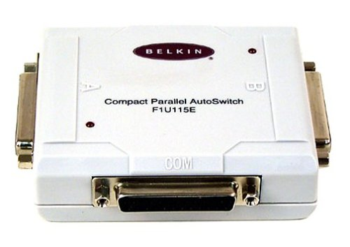 Belkin 2-DB25F IN/1-DB25F Out Compact Parallel Auto Switch