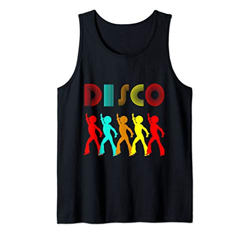 Disco King 1970s Retro Vintage 70s Dance Party Gift Tank Top
