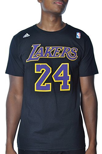 Kobe Bryant Los Angeles Lakers Black / Purple Jersey Name and Number T-shirt Medium