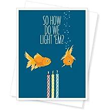 Birthday Goldfish, Funny Birthday Greeting Card