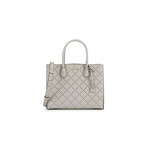 Michael Kors Mercer Large Studded Convertible Tote in Pearl Grey -