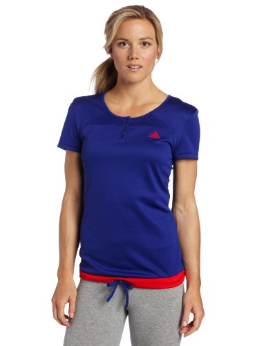 adidas Women's Response Tee, Prime Ink Blue/Core Energy, Small