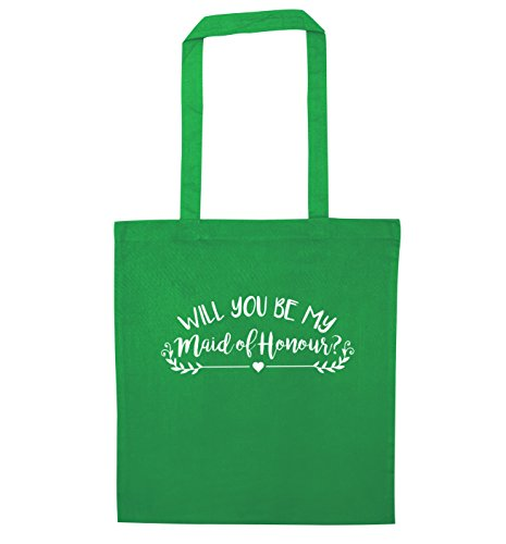 Will you be my maid of honour? tote bag | Flox Creative Green