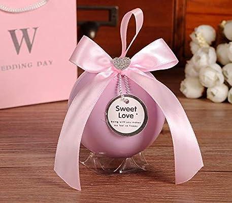 GaGadot Linda Caja Decorativa Caja de Dulces de hojalata de Caja de Regalo de Boda Forma Grande Creativa (Rosa): Amazon.es: Juguetes y juegos
