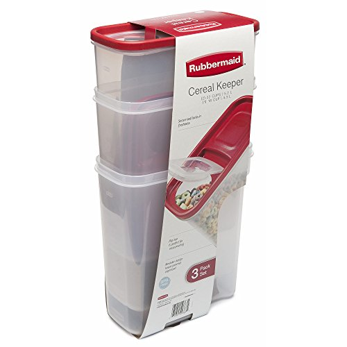 Rubbermaid Flip Top Cereal Keeper, Modular Food Storage Cont