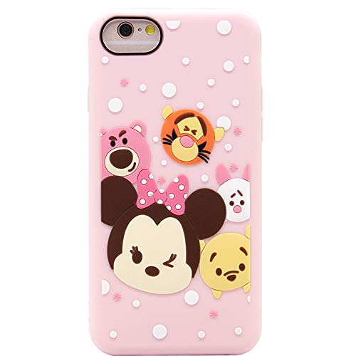 iPhone 6s Case, MC Fashion Cute Minnie Mouse Piglet Pooh Cartoon Case for Teens Girls Women, Soft Protective Silicone Phone Case for Apple iPhone 6 and iPhone 6s (Minnie Pooh -