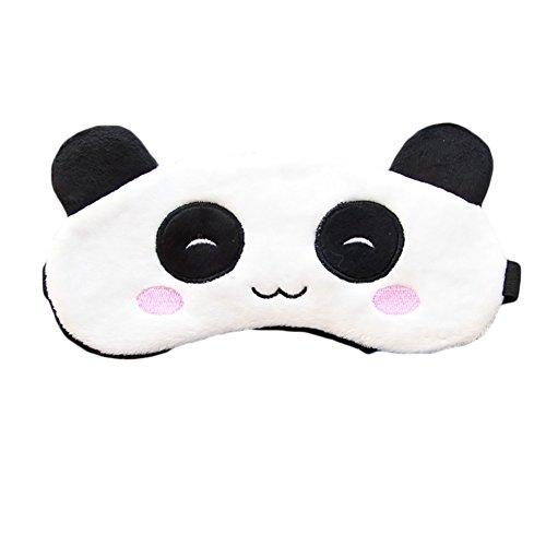 ACTLATI Cute Women Girls Sleep Aid Blindfold Cover Elastic Cartoon Animal Sleeping Eye Mask