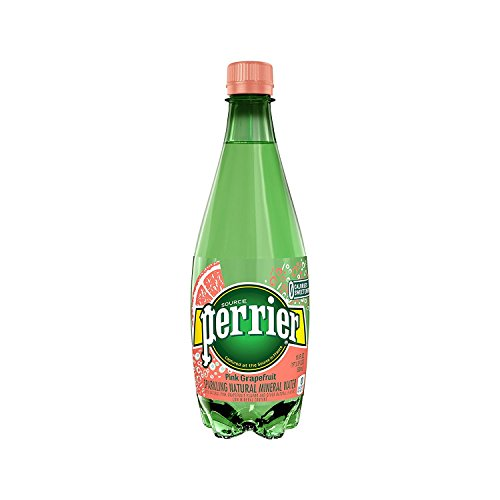 Perrier Sparkling Natural Mineral Water, Pink Grapefruit, 16.9 Ounce 24 Count (Pack of 4) by Perrier