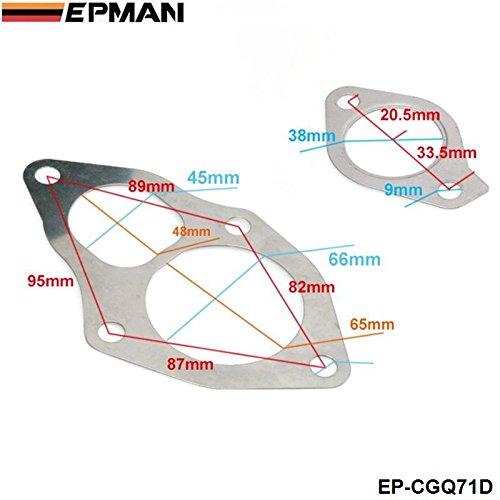 EPMAN - for Mitsubishi TD04 TD05 TURBO GASKET SET Outlet Inlet Oil Drain 4pcs10pcs Turbo Gasket EP-CGQ71D